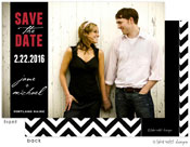 Take Note Designs Save The Date Cards - Custom Band over Full Photo