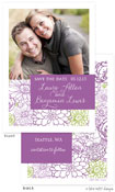Take Note Designs Save The Date Cards - Floral Purple Tag