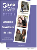 Take Note Designs Save The Date Cards - Film Strip Purple