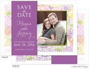 Take Note Designs Save The Date Cards - Colorful Floral with Band