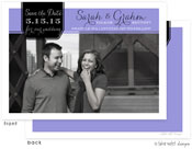 Take Note Designs Save The Date Cards - Elegant Tag on Purple