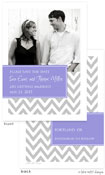 Take Note Designs Save The Date Cards - Designer with Purple Tag
