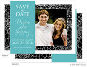 Take Note Designs Save The Date Cards - Black Elegant with Band