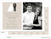 Take Note Designs Save The Date Cards - Bride and Groom to be Photo