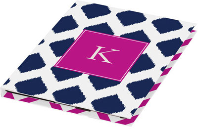 Kelly Hughes Designs - Personalized Tablet Cases (Navy Ikat) (tab950)