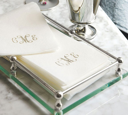 Personalized Linen-Like Guest Towels - Linen-Like Disposable Guest Towels