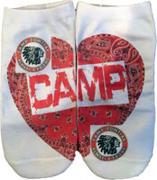 Just Gifts by Robin - Socks (Camp Heart Patch with Custom Camp Logo)