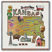 State Square Throws - Kansas