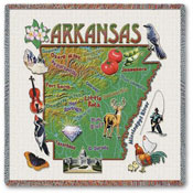 State Square Throws - Arkansas