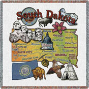 State Square Throws - South Dakota