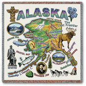 State Square Throws - Alaska