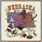 State Square Throws - Nebraska