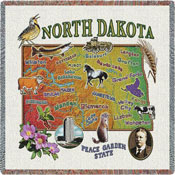 State Square Throws - North Dakota