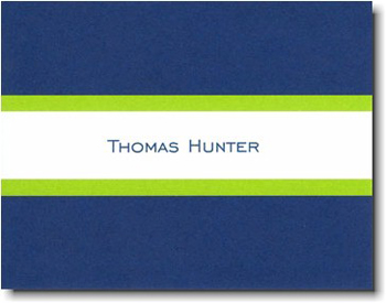 Boatman Geller Stationery - Navy & Lime Stripe