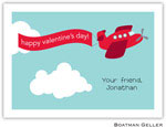 Boatman Geller Stationery - Airplane Red Valentine Flat Card