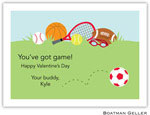 Boatman Geller Stationery - Sports Red Valentine Flat Card
