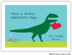 Boatman Geller Stationery - Heart Dino Valentine Flat Card