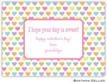 Boatman Geller Stationery - Candy Hearts Valentine Flat Card