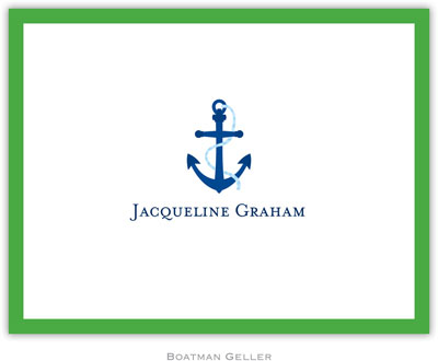 Boatman Geller - Create-Your-Own Personalized Stationery (Icon with Border - Foldover Note)