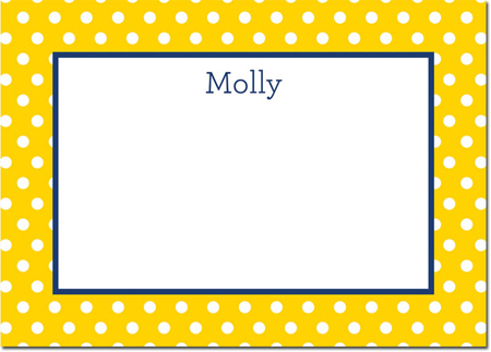Boatman Geller - Create-Your-Own Personalized Stationery (Polka Dot - Lg. Flat Card)