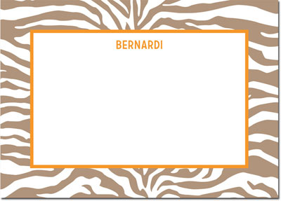 Boatman Geller - Create-Your-Own Personalized Stationery (Zebra - Lg. Flat Card)