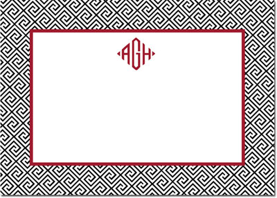 Boatman Geller - Create-Your-Own Personalized Stationery (Greek Key - Lg. Flat Card)
