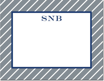 Boatman Geller - Create-Your-Own Personalized Stationery (Kent Stripe - Sm. Flat Card)