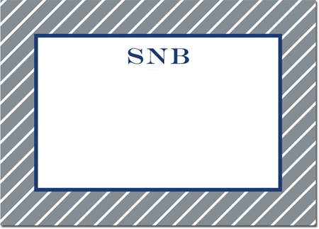 Boatman Geller - Create-Your-Own Personalized Stationery (Kent Stripe - Lg. Flat Card)