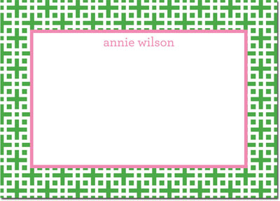 Boatman Geller - Create-Your-Own Personalized Stationery (Lattice - Lg. Flat Card)