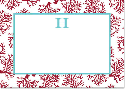 Boatman Geller - Create-Your-Own Personalized Stationery (Coral - Lg. Flat Card)