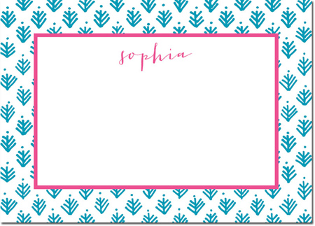 Boatman Geller - Create-Your-Own Personalized Stationery (Sprig - Lg. Flat Card)
