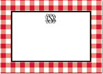Boatman Geller - Create-Your-Own Personalized Stationery (Classic Check - Lg. Flat Card)