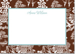 Boatman Geller - Create-Your-Own Personalized Stationery (Chinoiserie - Lg. Flat Card)
