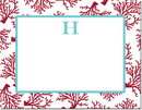 Boatman Geller - Create-Your-Own Personalized Stationery (Coral - Sm. Flat Card)