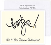 Boatman Geller Stationery/Thank You Notes - Thank You Cream