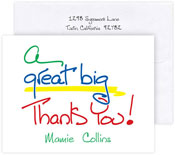 Boatman Geller Stationery/Thank You Notes - A Great Big Thank You