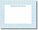 Boatman Geller Stationery - Blue Houndstooth