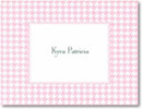 Boatman Geller Stationery - Pink Houndstooth