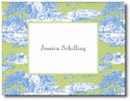 Boatman Geller Stationery - Blue & Green Toile
