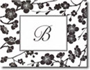 Boatman Geller Stationery - Black Blossom