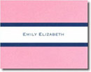 Boatman Geller Stationery - Light Pink & Navy Stripe