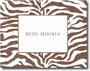 Boatman Geller Stationery - Brown Zebra