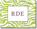 Boatman Geller Stationery - Green Zebra