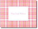 Boatman Geller Stationery - Pink Plaid