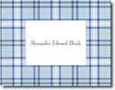 Boatman Geller Stationery - Blue Plaid