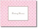 Boatman Geller Stationery - Pink with Brown Dot