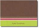 Boatman Geller Stationery - Brown Grosgrain