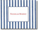 Boatman Geller Stationery - Navy Ticking