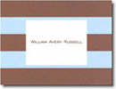Boatman Geller Stationery - Blue & Brown Rugby