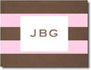 Boatman Geller Stationery - Pink & Brown Rugby